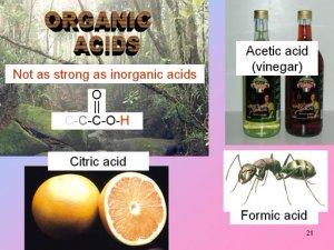 Органические кислоты и эфирные масла